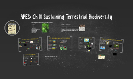 Copy of Buford APES: Ch 10 Sustaining Terrestrial Biodiversity