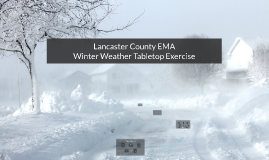 2015 Winter Weather Tabletop Exercise