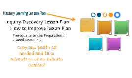Mastery Learning Lesson Plan