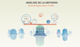ANÁLISIS DE LA REFORMA