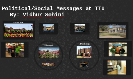 Political/Social Messages at TTU