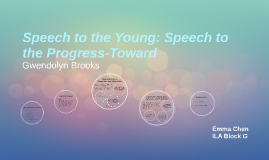 Speech to the Young: Speech to the Progress-Toward