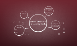 Learner Differences & Learning Needs