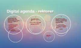 Digital agenda - rektorer