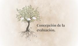 Concepción de la evaluación.