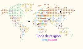 Tipos de religión