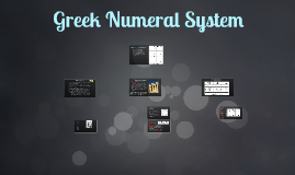 Greek number system