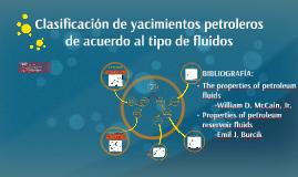 clasificacion de los hidrocarburso de yacimiento