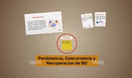 Persistencia, Concurrencia y