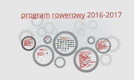 program rowerowy 2016
