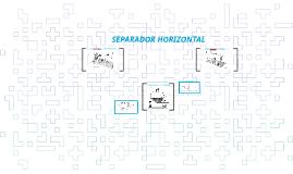 SEPARADOR HORIZONTAL