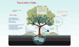 Copy of How to write a Haiku