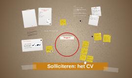Solliciteren: CV schrijven