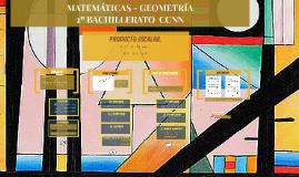 Geometría en el espacio. Producto escalar. Ángulos y distancias. 2º Bachillerato CC