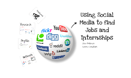Using Social Media to find Jobs and Internships 2013