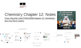 Chemistry Chapter 12: Notes