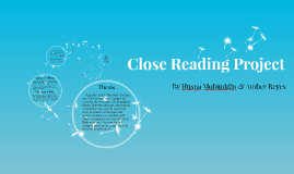 Close Reading Project