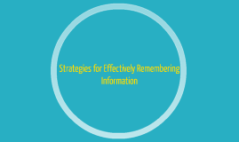Strategies for Effectively Remembering Information