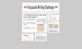 Persuasive Writing Challenge