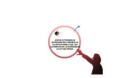 GUÍA DE ACTIVIDADES DE MOTRICIDAD FINA, DIRIGIDAS AL DOCENTE DE PREESCOLAR, QUE CONTRIBUYEN EN LA ENSEÑANZA DE LA LECTOESCRITURA.