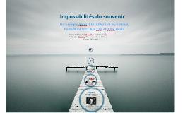 Impossibilités du souvenir 2