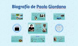 Biografía de Paolo Giordano