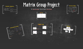 Matrix Group Project