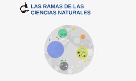 Copy of LAS RAMAS DE LAS CIENCIAS NATURALES