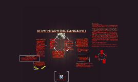 Copy of KOMENTARYONG PANRADYO AT DOKUMENTARYONG PANTELEBISYON
