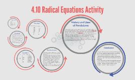 4.10 Radical Equations Activity