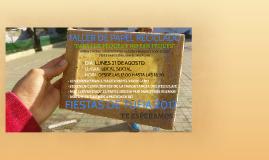 TALLER DE PAPEL RECICLADO PARA LOS PEQUES Y NO TAN PEQUES