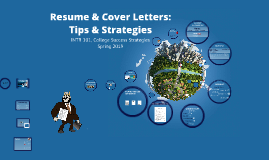 Resumes, Cover Letters, Mock Interviews (INTR 101, Spring 2019)