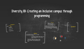 Center for Diversity and Inclusion by Natalie Fajardo on Prezi Diversity 101: Creating an Inclusive cam.