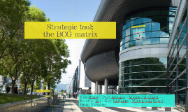 Strategic tool: the BCB advance matrix