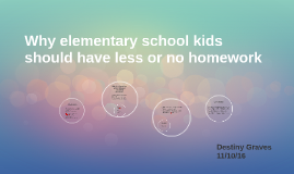Why elementary school kids should have less homework