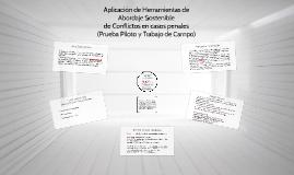 APLICACIÓN DE HERRAMIENTAS DE ABORDAJE SOSTENIBLE