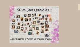 50 MUJERES GENIALES...