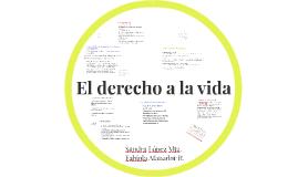 DERECHO A LA VIDA