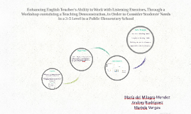 Enhancing English Teacher's Ability to Work with Listening E