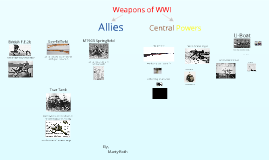 Weapons in WWI
