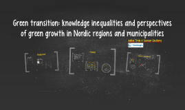 Green transition – knowledge inequalities and perspectives o