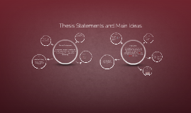 Copy of Thesis Statement and Main Idea Workshop