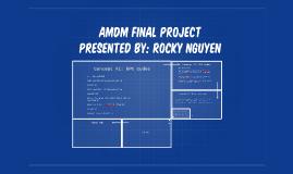 AMDM Final Project