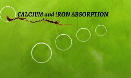 CALCIUM and IRON ABSORPTION