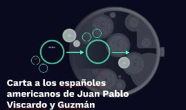 Carta dirigida a los españoles americanos de Juan Pablo Vis