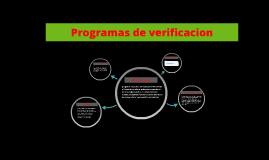 Programas de verificacion