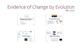 BI 1: Evidence of Evolution