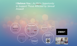 Copy of I Believe You : A RA's Opportunity to Support Those Affected