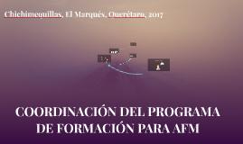 COORDINACIÓN DEL PROGRAMA DE FORMACIÓN PARA AFM