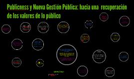 Publicness y Nueva Gestión Pública: hacia una  recuperación